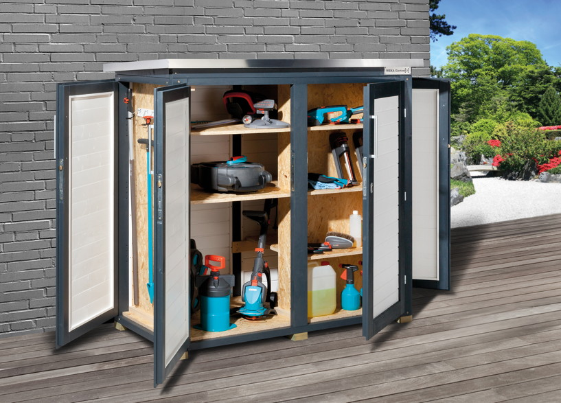 ger teschrank weka garten q terras ger teschrank. Black Bedroom Furniture Sets. Home Design Ideas