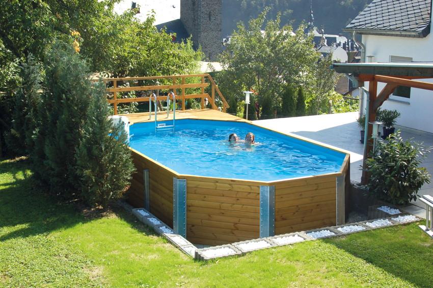 Swimmingpool holz  Holzpool WEKA Korfu - Schwimmbecken aus Holz | eBay