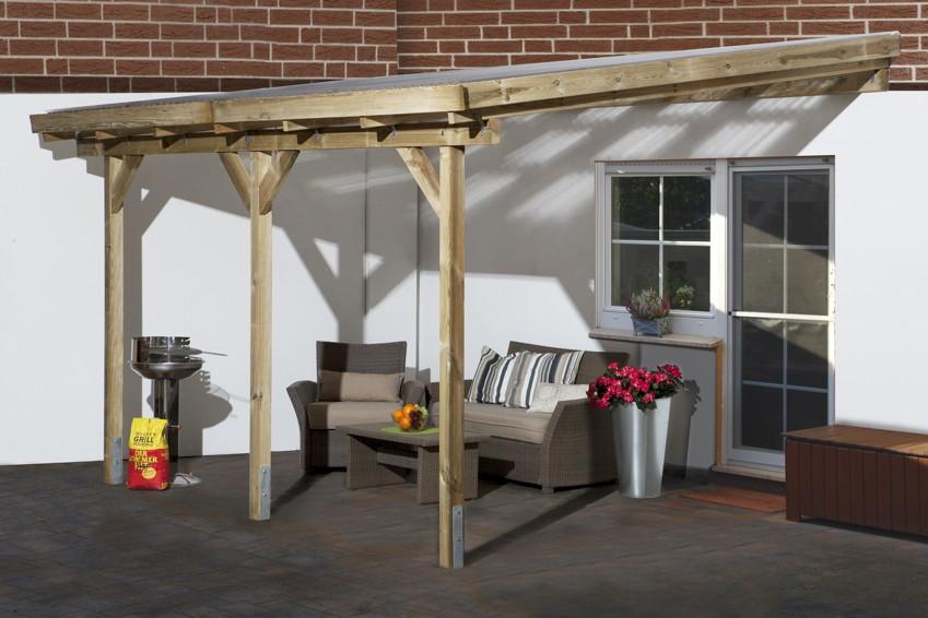 TerrassenUberdachung Holz Leer ~ Terrassenüberdachung Holz Bausatz WEKA «Salsa» Terrassendach