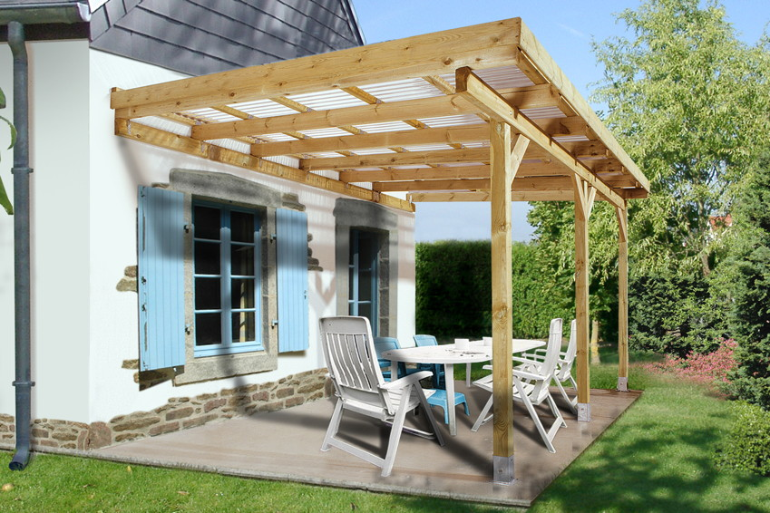 terrassen berdachung holz bausatz weka salsa terrassendach ebay. Black Bedroom Furniture Sets. Home Design Ideas