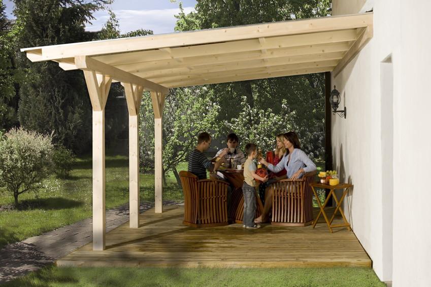 TerrassenUberdachung Holz Bausatz GUnstig ~   Holz Bausatz WEKA «Summer» Terrassendach  Holz Angebot