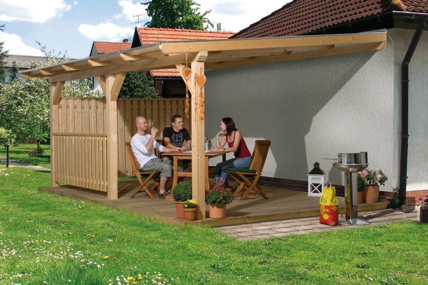 terrassen berdachung holz bausatz weka summer. Black Bedroom Furniture Sets. Home Design Ideas