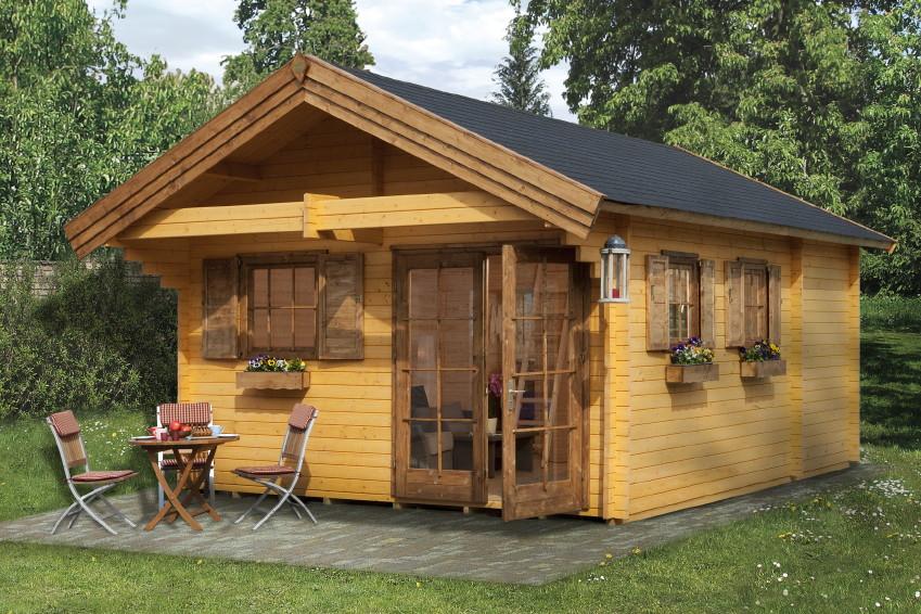 Ferienhaus WEKA Weekendhaus 155 Wochenend-Haus Holz-Haus-Bausatz