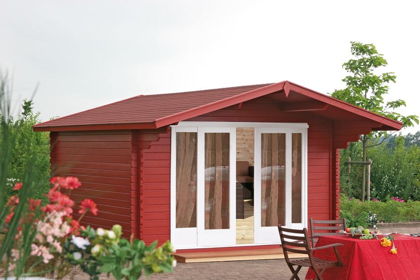Gartenhaus 360x300cm Holzhaus Bausatz Holz-Gartenhaus, große Doppeltür