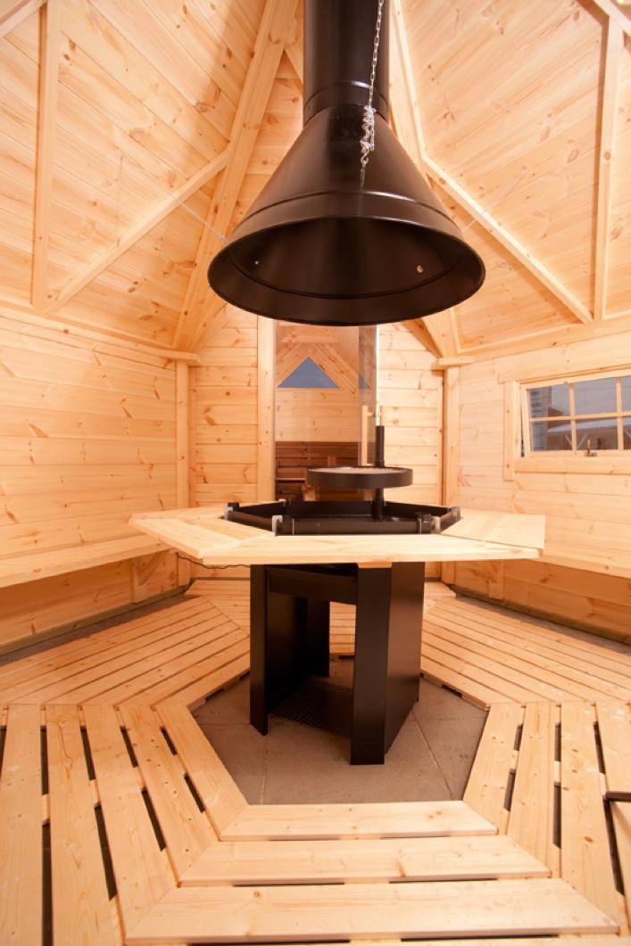 kota wolff grillkota 9 de luxe mit anbau grillhaus gartenhaus aus holz vom garten fachh ndler. Black Bedroom Furniture Sets. Home Design Ideas