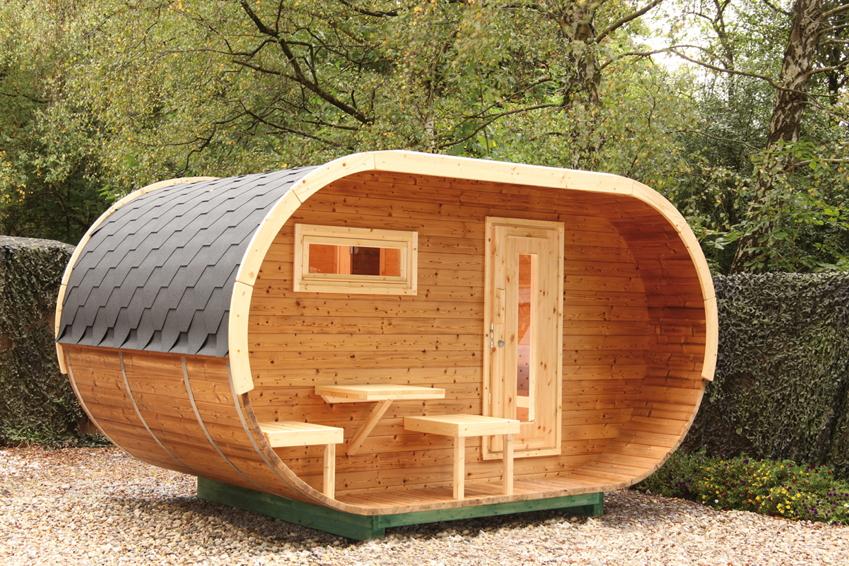 Turbo Saunahäuser für das Outdoor-Saunavergnügen im Garten | vom Sauna DS81
