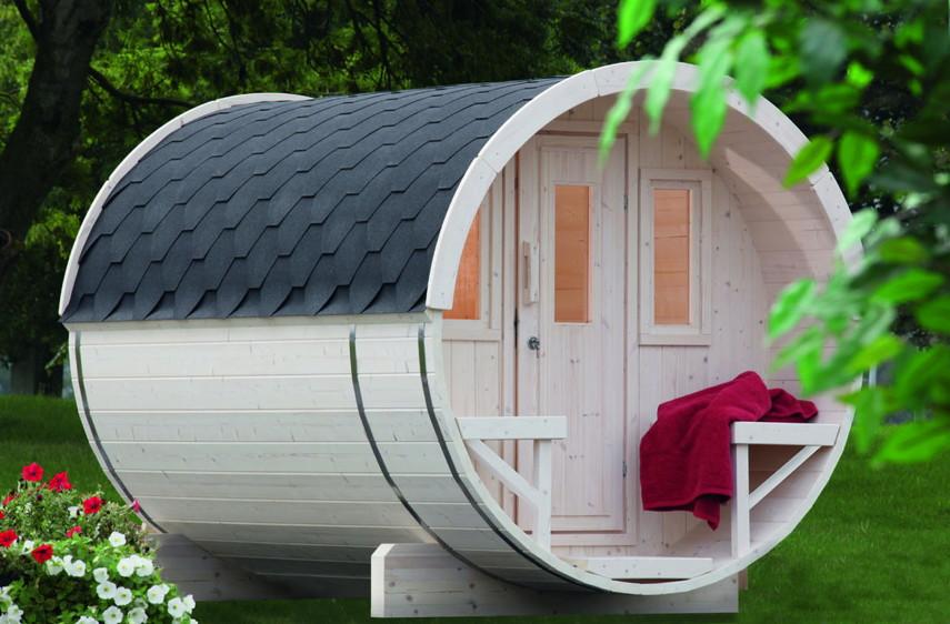 gartensauna wolff saunafass sauna haus aussensauna fasssauna aus holz fasssauna saunafass. Black Bedroom Furniture Sets. Home Design Ideas