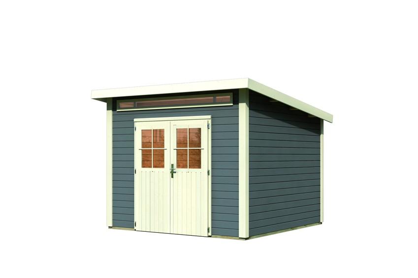 gartenhaus woodfeeling aktionshaus pultdach ebay. Black Bedroom Furniture Sets. Home Design Ideas