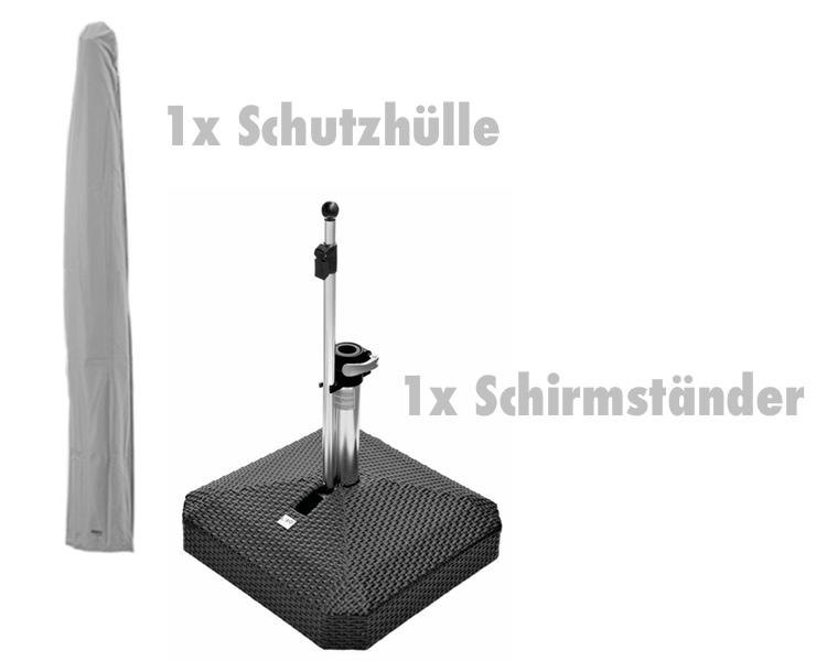 zubeh rset f r sonnenschirm alexo schutzh lle. Black Bedroom Furniture Sets. Home Design Ideas