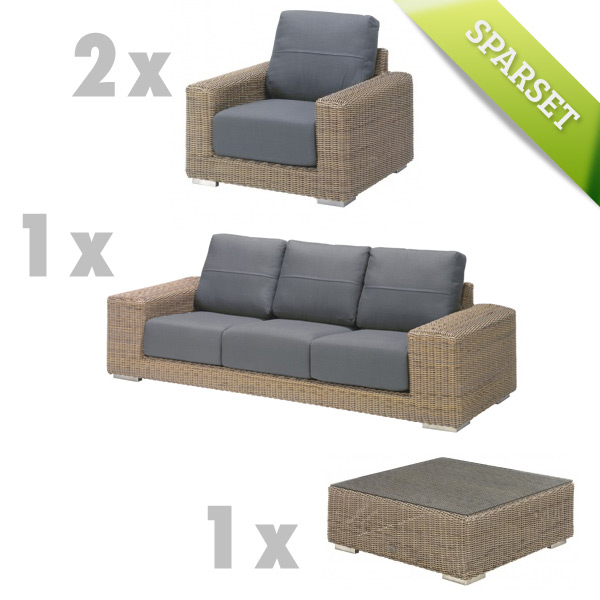 Gartenm�bel-Set 4Seasons Kingston Sitzgruppe Polyrattan Geflechtgruppe Lounge