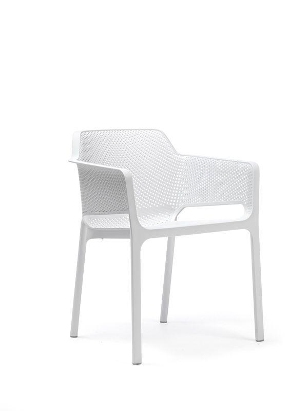 gartenstuhl nardi net bistrosessel wei stapelsessel kunststoffsessel gartenm bel fachhandel. Black Bedroom Furniture Sets. Home Design Ideas