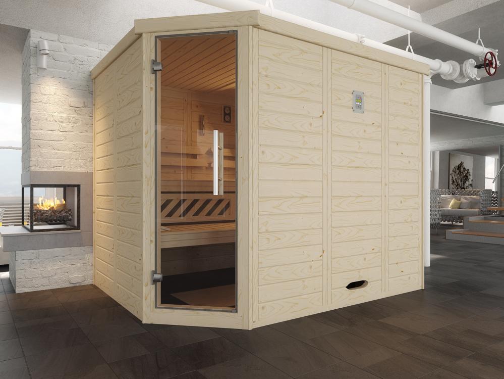 design sauna 528 glast r gr 2 bios dampfbad kombi ofen. Black Bedroom Furniture Sets. Home Design Ideas