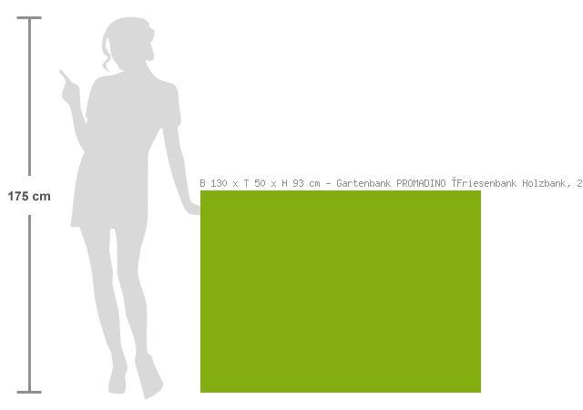gartenbank promadino friesenbank holzbank 2 sitzer bank garten blog haus. Black Bedroom Furniture Sets. Home Design Ideas