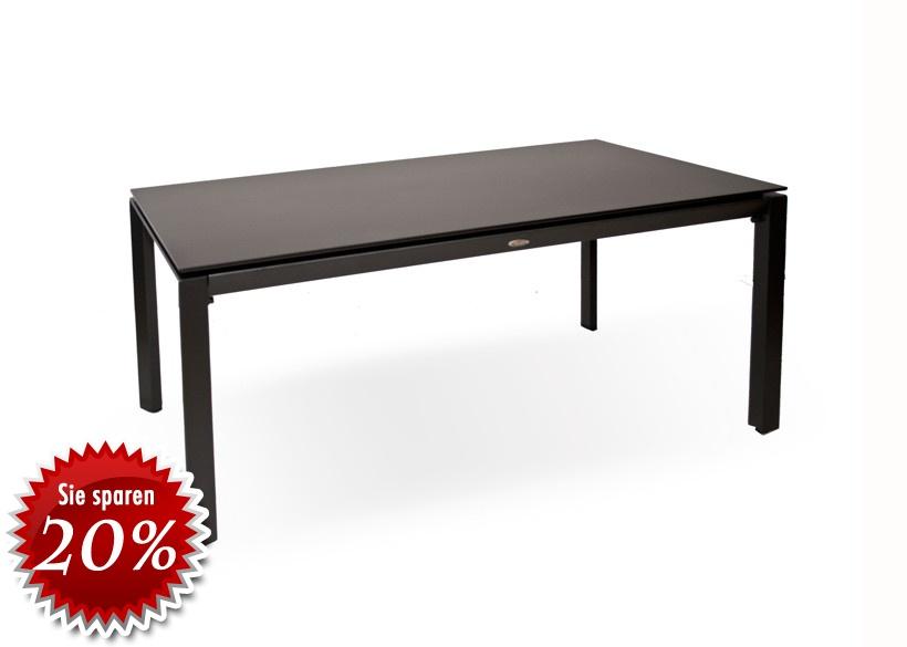 gartentisch diamond garden kreta aluminium tisch mit steinplatte ebay. Black Bedroom Furniture Sets. Home Design Ideas
