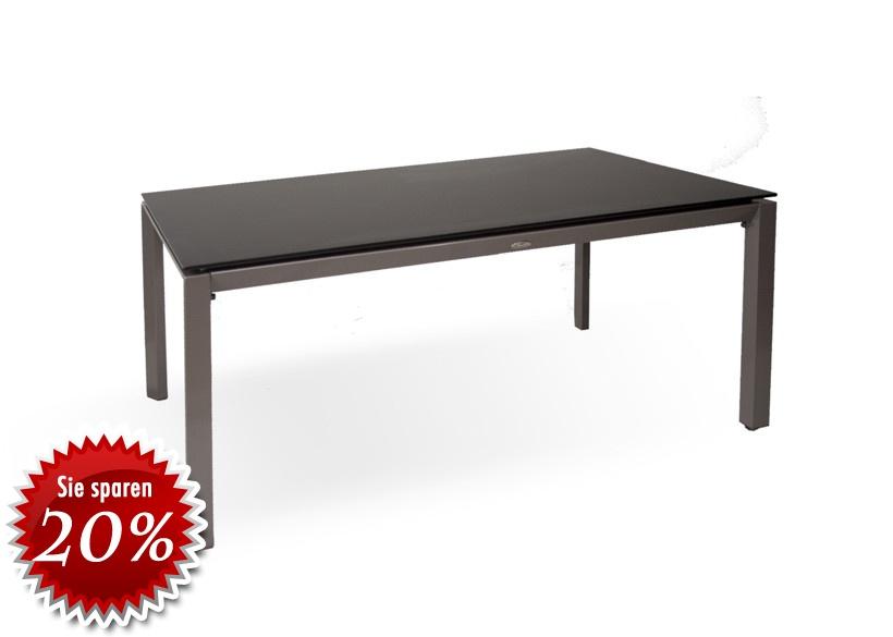 gartentisch diamond garden korfu aluminium esstisch mit steinplatte ebay. Black Bedroom Furniture Sets. Home Design Ideas