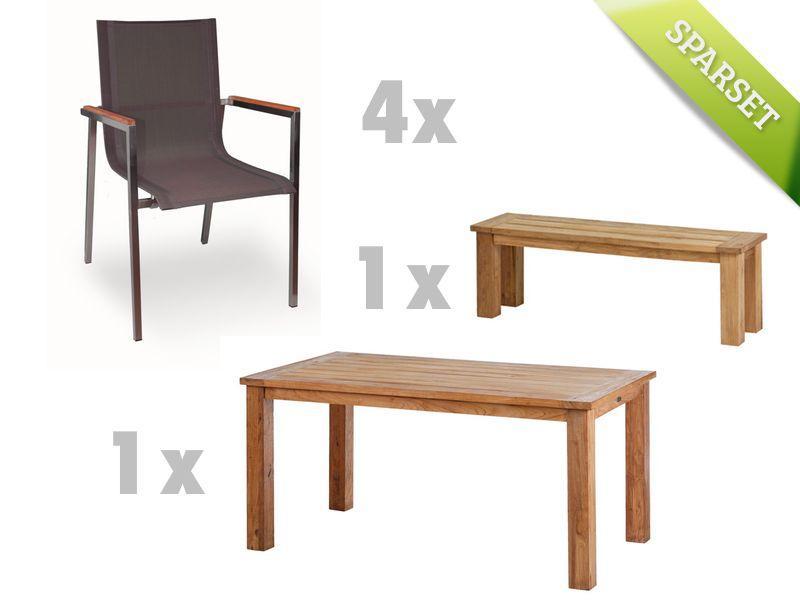Luxus Gartenmöbel Sitzgruppe DIAMOND GARDEN Belmont Rimini Teak Holz  => Polyrattan Gartenmobel Mit Verstellbarer Ruckenlehne