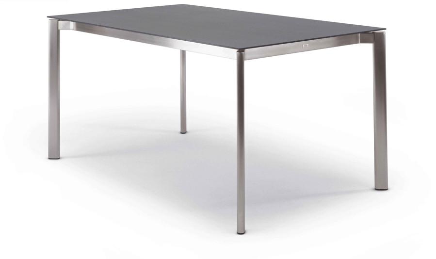 Gartentisch FISCHER ?Swing? Tisch 130x80 Edelstahltisch mit Keramikplatte