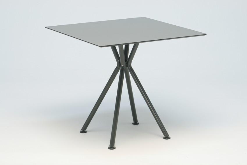 Gartentisch FISCHER ?Lodge? Tisch quadratisch, Keramiktisch mit Aluminiumgestell