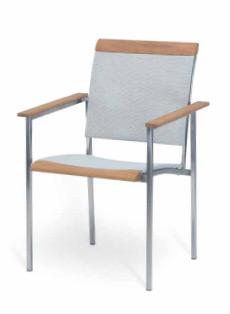 Gartenstuhl FISCHER ?La Piazza? Sessel Edelstahlstuhl mit Textilene