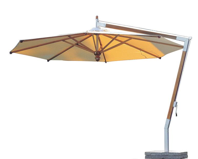 Sonnenschirm FISCHER ?WOODLINE? ? 400 cm rund Wood-Edition