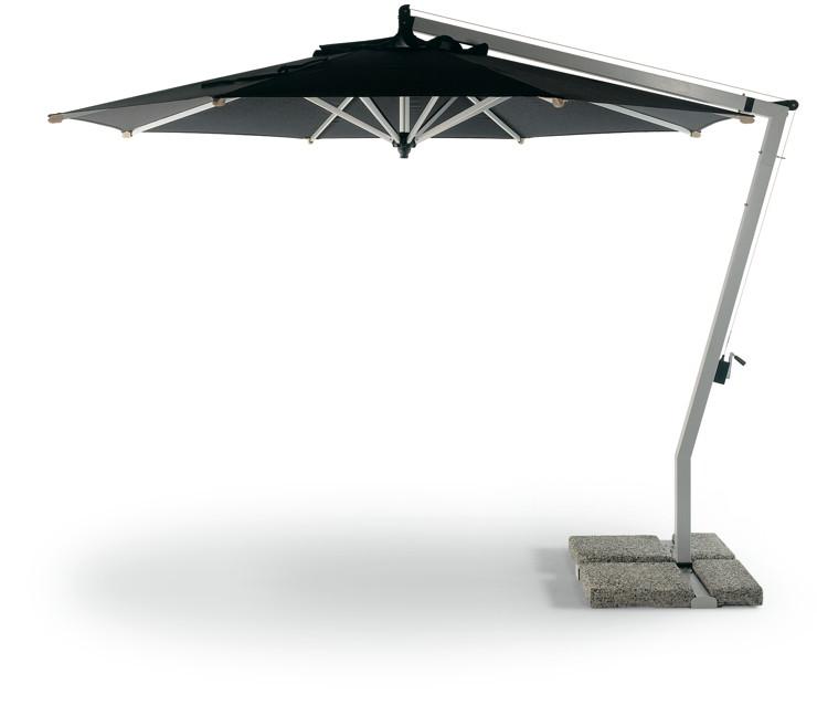 Sonnenschirm FISCHER Ampelschirm ?WOODLINE? 300x300 mit Knick, Sonnenschirm