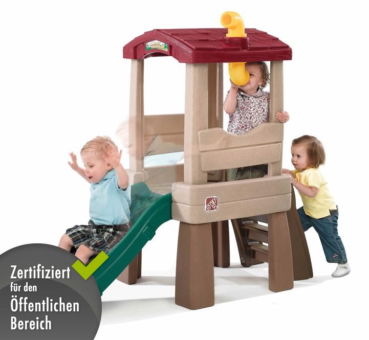 kinder kletterturm step 2 baumhaus spielhaus aus kunststoff mit rutsche ebay. Black Bedroom Furniture Sets. Home Design Ideas