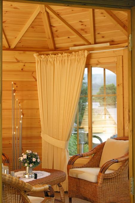 pavillon capri 3 5 8 eck holz pavi dachschindeln schwarz ebay. Black Bedroom Furniture Sets. Home Design Ideas