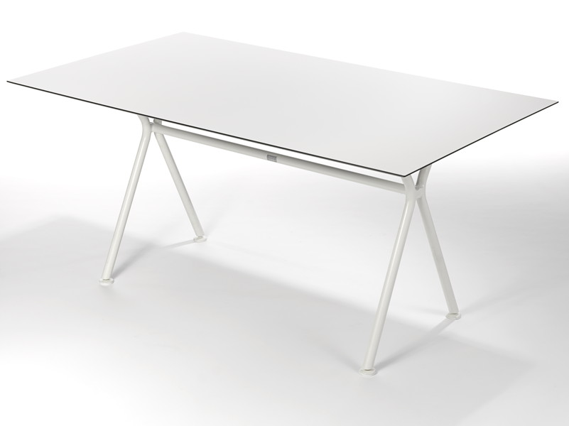 Gartentisch FISCHER ?Nizza? Tisch 160x90 Keramiktisch mit Aluminiumgestell