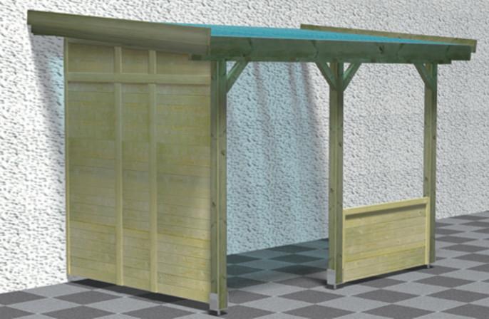 Frontelement f r terrassen berdachung karibu modell 1 3 - Terrassen seitenwand ...