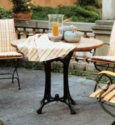Gartentisch FISCHER ?London? Collection Tisch rund Teakholztisch mit Alu-Guss