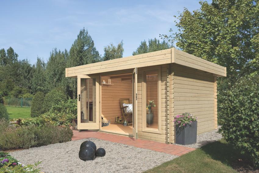 gartenhaus flachdach karibu aramir 1 inkl firestone. Black Bedroom Furniture Sets. Home Design Ideas