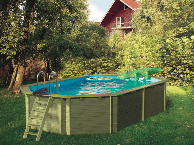 holzpool karibu modell 4 schwimmbecken aus holz ebay. Black Bedroom Furniture Sets. Home Design Ideas