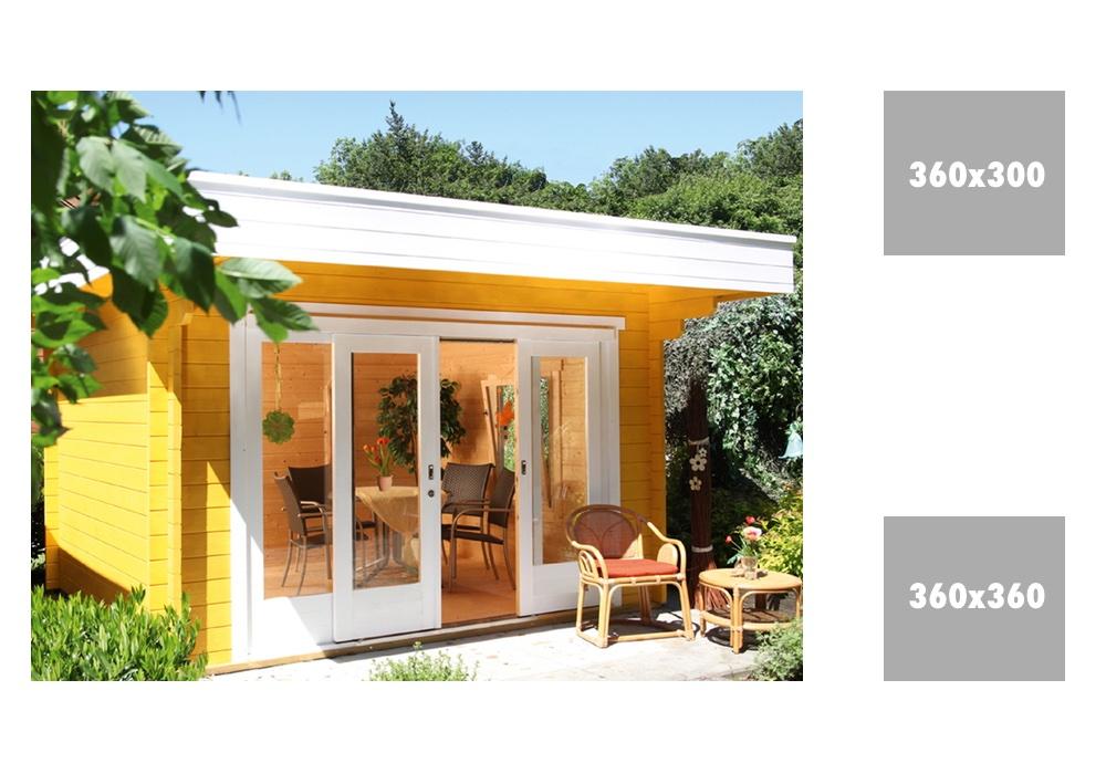 gartenhaus sophie 44 mit gro er schiebet r flachdach holzhaus ebay. Black Bedroom Furniture Sets. Home Design Ideas