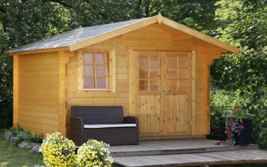 gartenhaus 360x300cm holzhaus bausatz klassik doppelt r ebay. Black Bedroom Furniture Sets. Home Design Ideas
