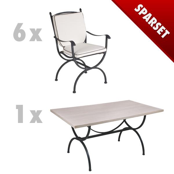 gartenm bel set mbm medici set3 sitzgruppe schmiedeeisen ebay. Black Bedroom Furniture Sets. Home Design Ideas