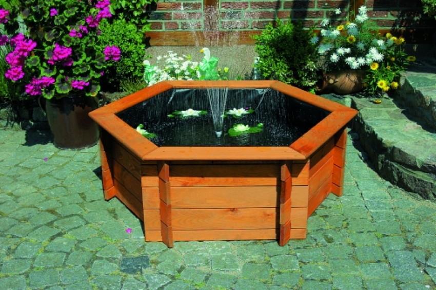 Gartenteich PROMADINO «Hochteich» Wasserspiel mit Pflanzzone ...