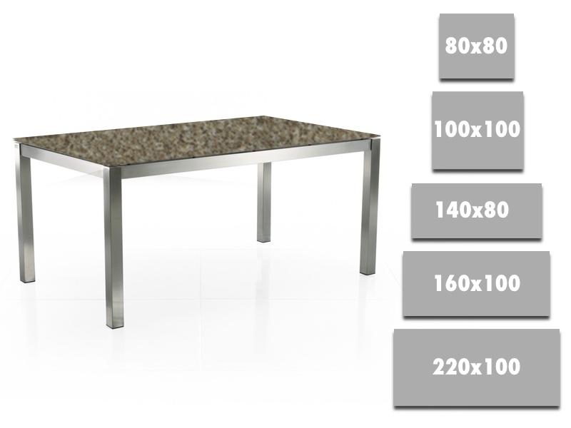 esstisch eradis weiss hochglanz 220 300×90 cm edelstahl geburstet