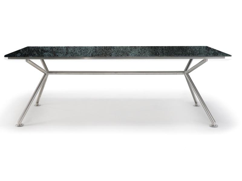 Gartentisch SOLPURI «MATRIX Edelstahl 220x100cm» Keramikplatte loft