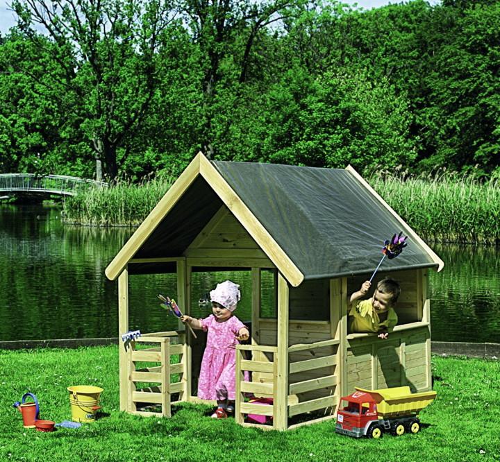 Kinder Spielhaus Promadino Moritz Holzhaus Mit Spielhaus Moritz