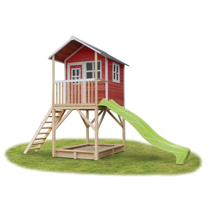 Holz Kinder Spielhaus Stelzen Kinderspielhaus Stelzenhaus Rutsche