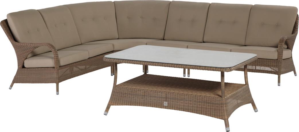 LuxusSitzgruppe PolyrattanGeflecht «Sussex Lounge 1 » Gartenmöbel  => Polyrattan Gartenmobel Mit Verstellbarer Ruckenlehne
