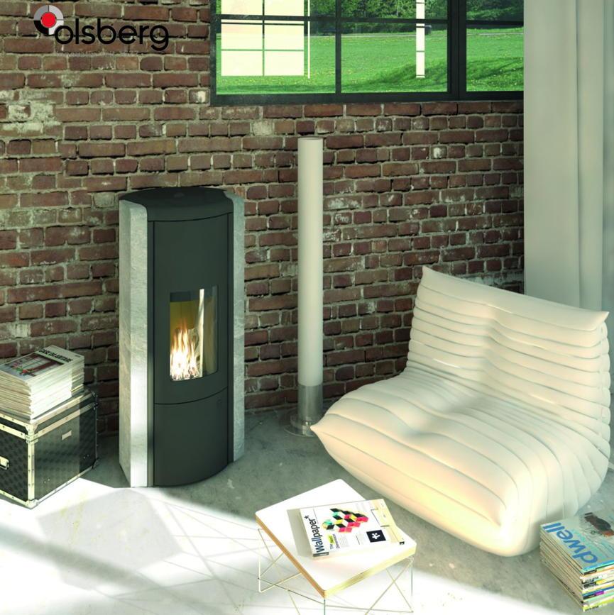 design kamin ofen olsberg arina naturstein serpentin 6kw pelletofen ebay. Black Bedroom Furniture Sets. Home Design Ideas