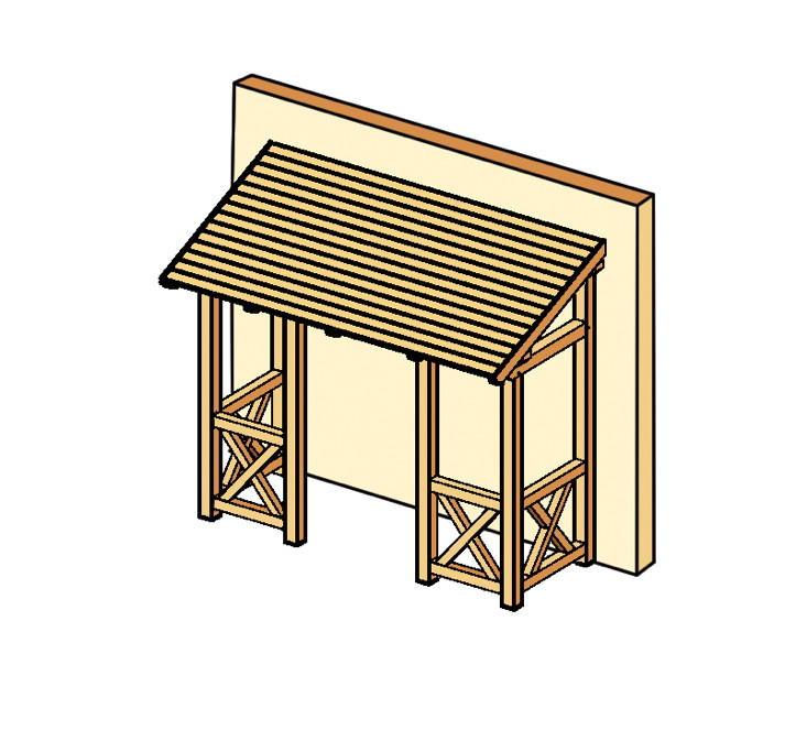 Holz Vordächer FUr HaustUren ~ Holz Vordach SKANHOLZ «Paderborn» für Haustüren Pultdach Typ 5
