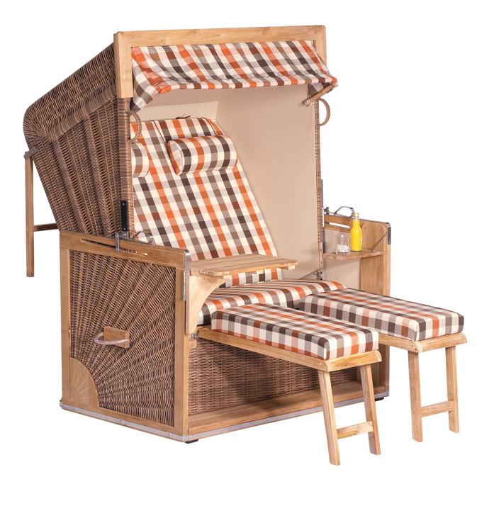strandkorb sonnenpartner pr sident alu 2 sitzer liegemodell anthrazit stoff 114 holz. Black Bedroom Furniture Sets. Home Design Ideas