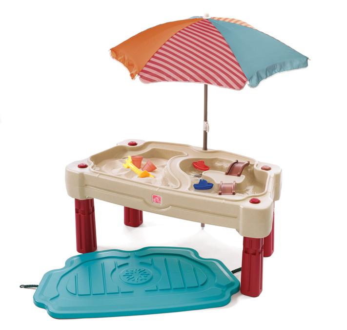 wasser spieltisch step 2 sand wassertisch wassertisch ebay. Black Bedroom Furniture Sets. Home Design Ideas