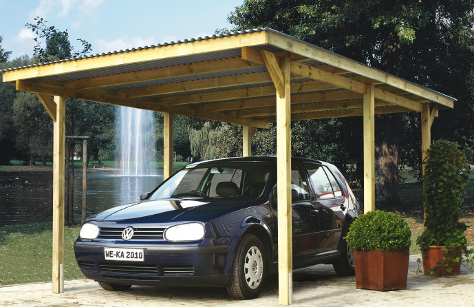 holz carport bausatz weka primus 1 einzelcarport ebay. Black Bedroom Furniture Sets. Home Design Ideas