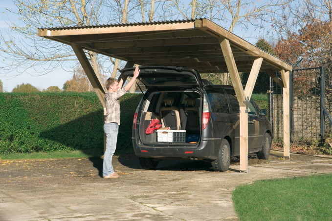 pin holz carport bausatz weka optima 2 einzelcarport kaufen im haus on pinterest. Black Bedroom Furniture Sets. Home Design Ideas