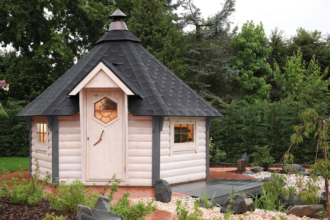 kota grillkota 9 de luxe grillhaus gartenhaus aus holz ebay. Black Bedroom Furniture Sets. Home Design Ideas