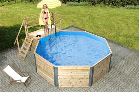 holzpool weka capri schwimmbecken aus holz. Black Bedroom Furniture Sets. Home Design Ideas