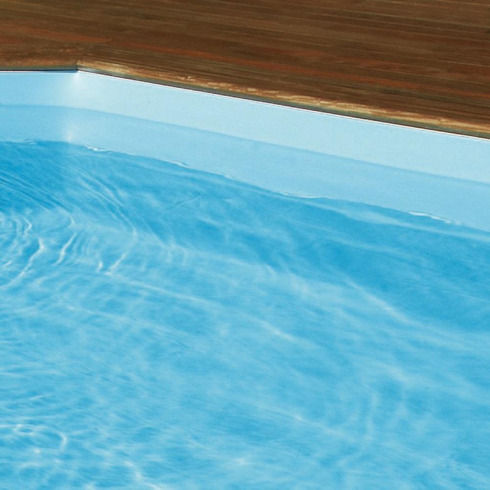 Holzpool octa5 rund schwimmbecken blockbohlen bausatz for Folie pool rund